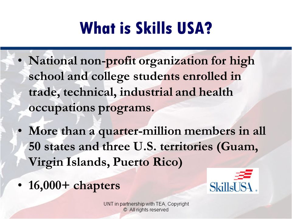 What is Skills USA.