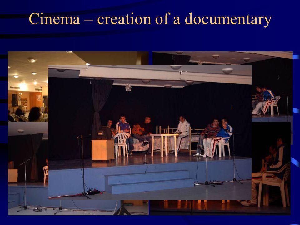 Cinema – creation of a documentary