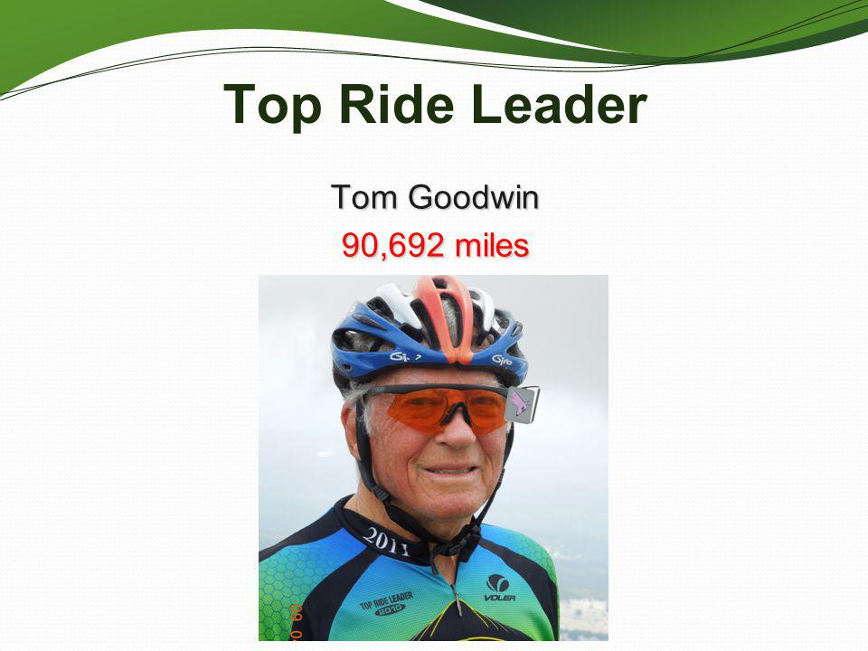Top Ride Leader Tom Goodwin 90,692 miles