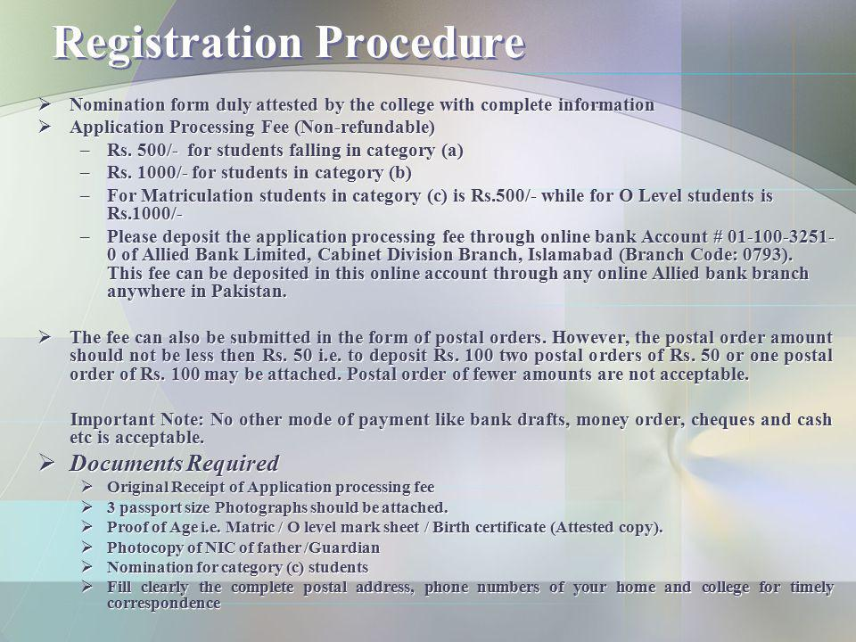 Selection Procedure Screening Test will be held on 9 th of January, 2011.
