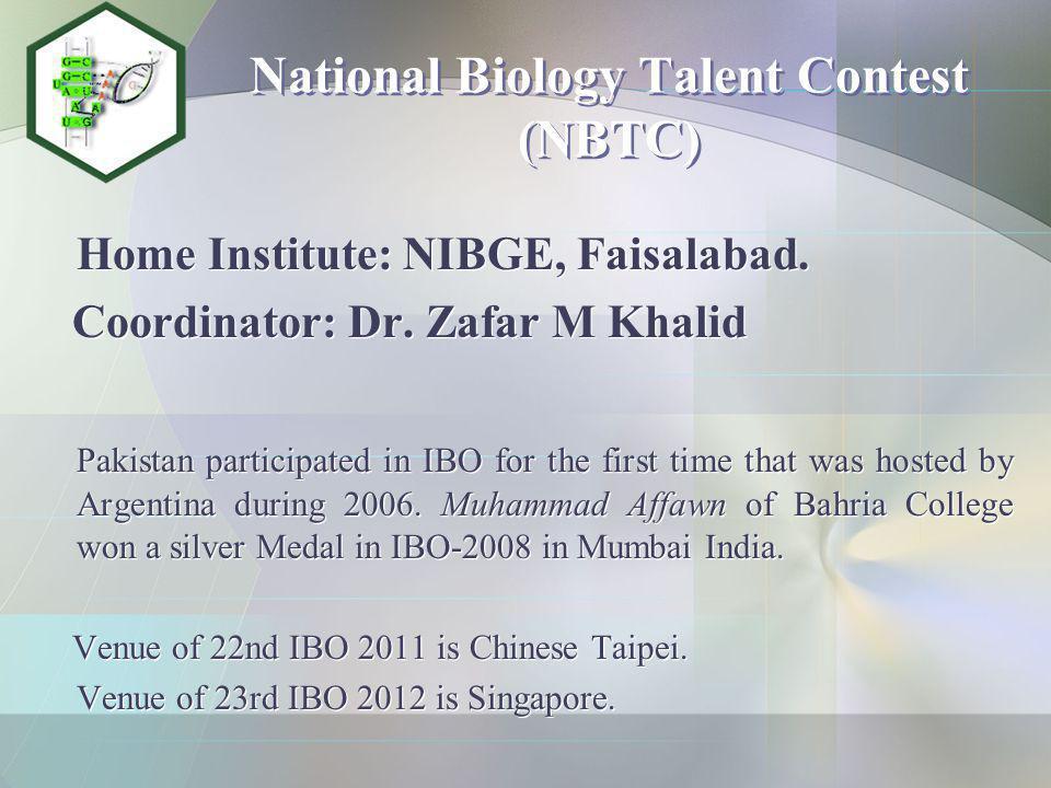 National Mathematics Talent Contest (NMTC) Home Institute: SMS, GCU, Lahore.
