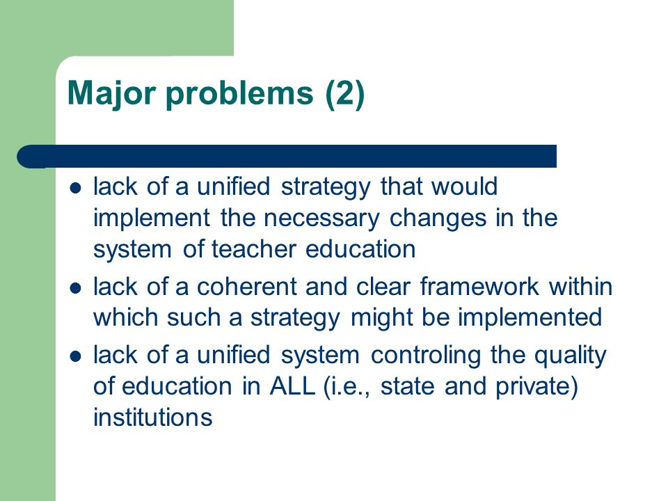 Major problems (3) The regulation introduced on September 7, 2004 requires that B.A.