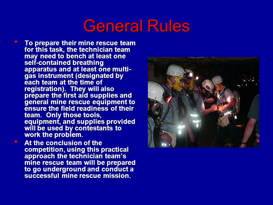 General Rules Forty (40) minutes will be allowed to complete the competition.