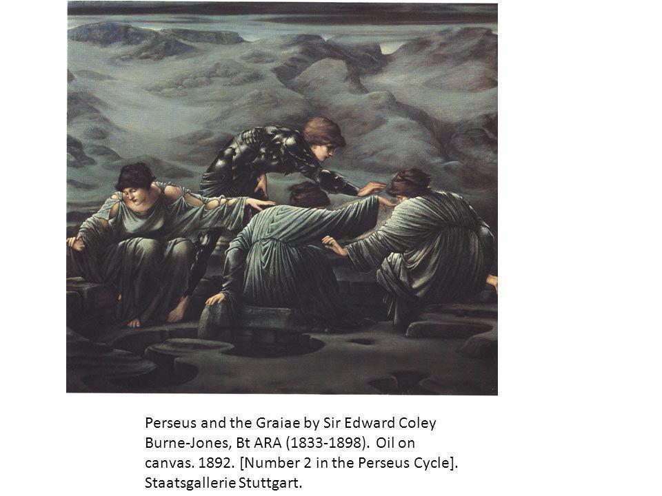 Perseus and the Graiae by Sir Edward Coley Burne-Jones, Bt ARA (1833-1898).