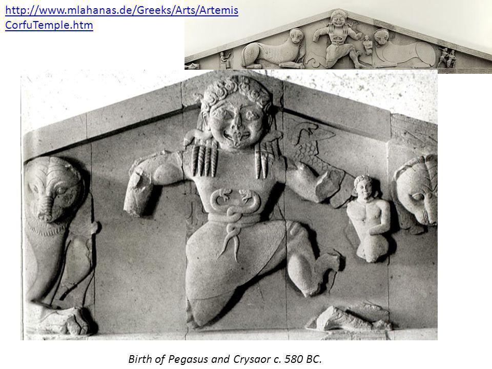 Birth of Pegasus and Crysaor c.580 BC.