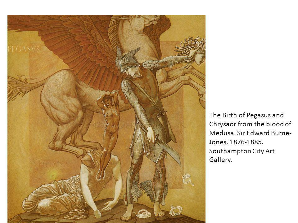 The Birth of Pegasus and Chrysaor from the blood of Medusa.