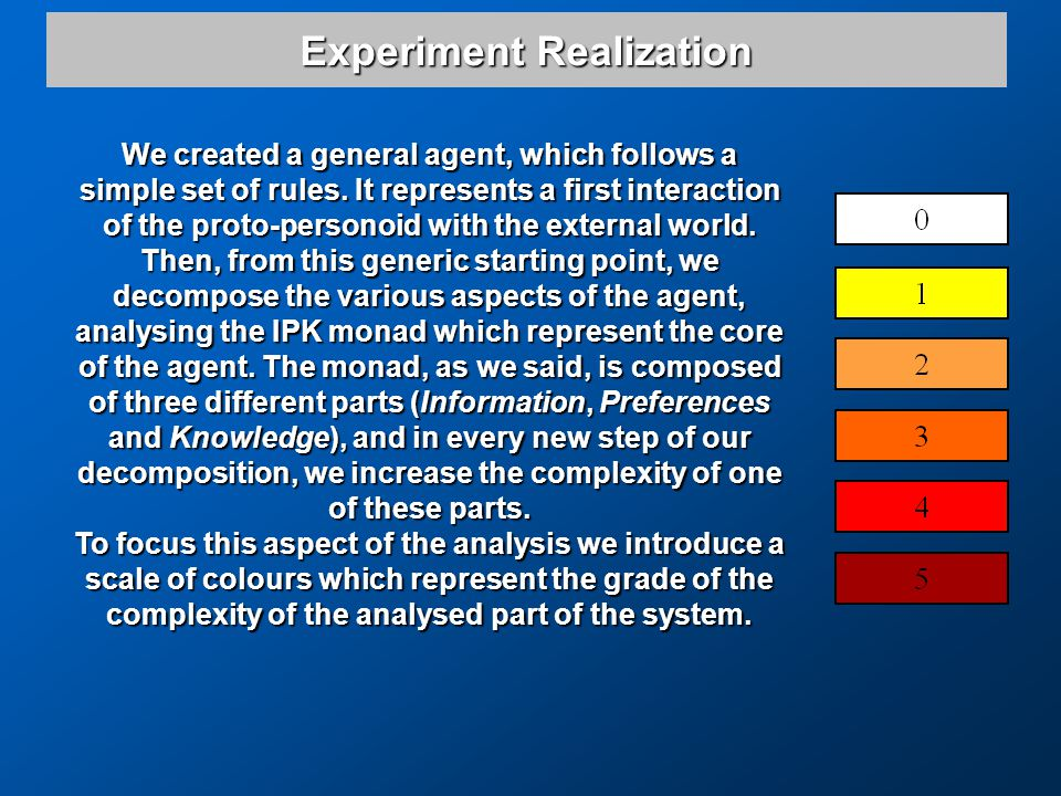 Experiment Realization We created a general agent, which follows a simple set of rules.