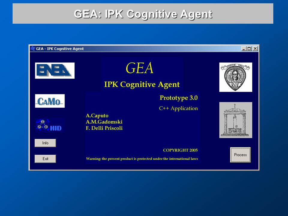 GEA: IPK Cognitive Agent
