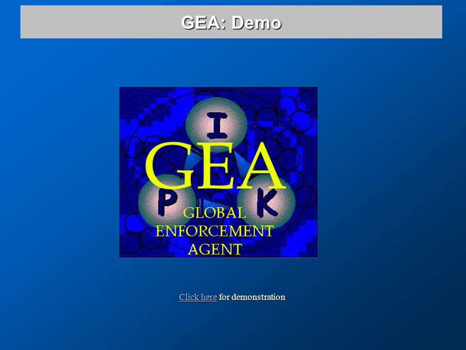 Click hereClick here for demonstration Click here GEA: Demo