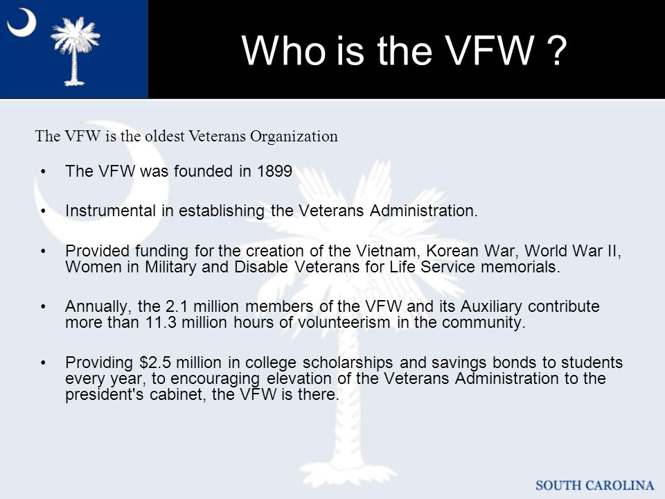 Who is the VFW .