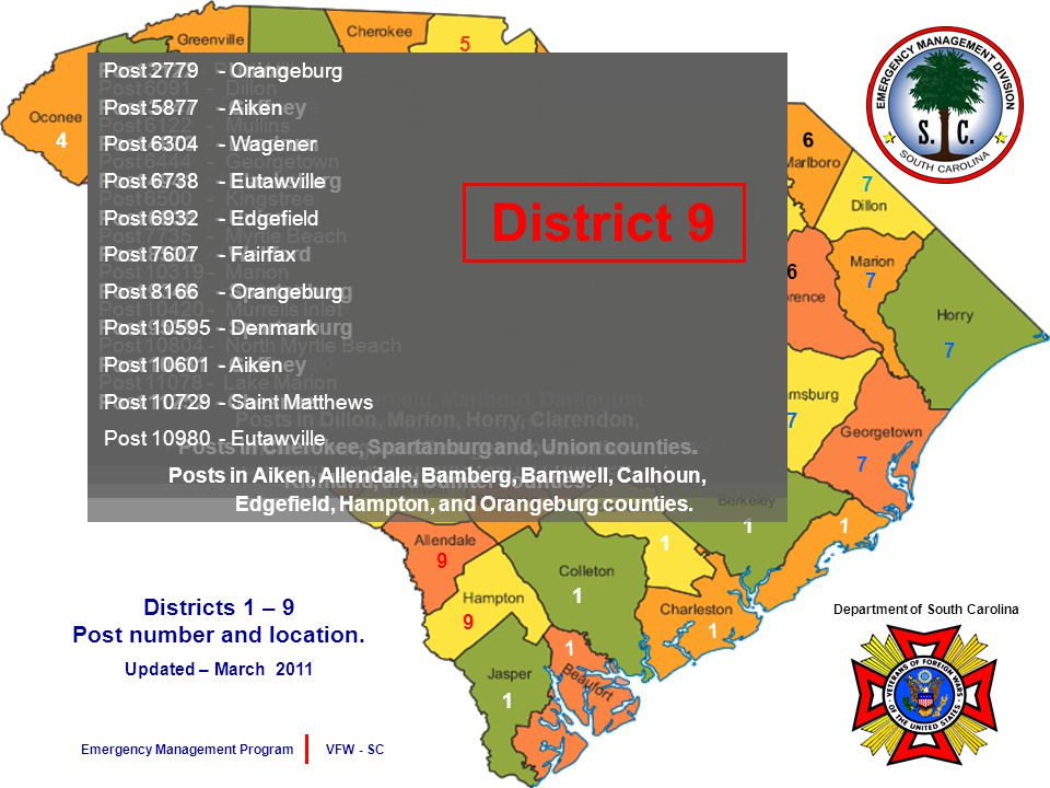 7 7 7 7 7 7 1 1 1 1 1 1 2 2 2 2 2 2 9 9 9 9 9 9 9 9 3 3 3 3 4 5 5 5 5 4 4 4 6 6 6 6 6 8 8 8 Districts 1 – 9 Post number and location.