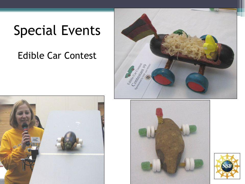 Special Events Edible Car Contest