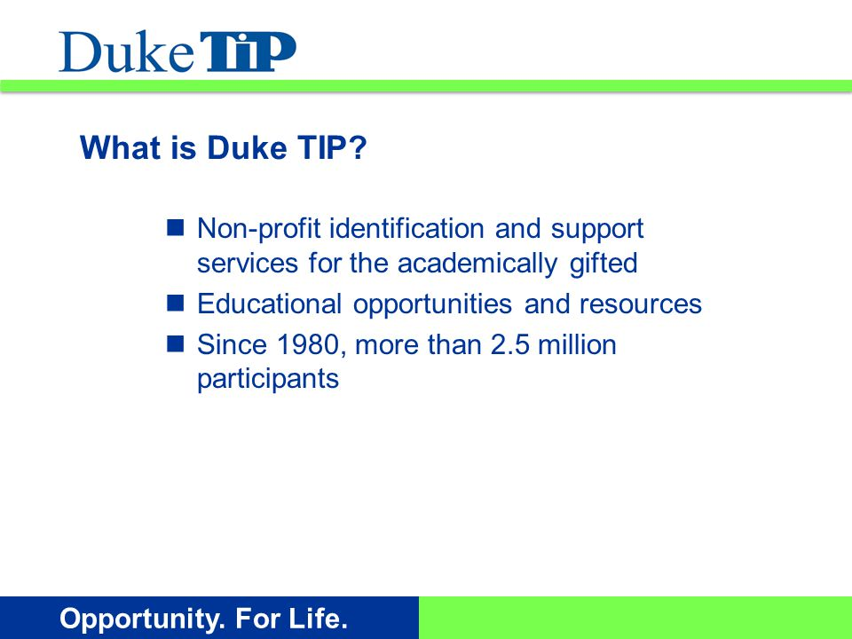 Opportunity.For Life. Working with students, educators, and their families we are here for you.