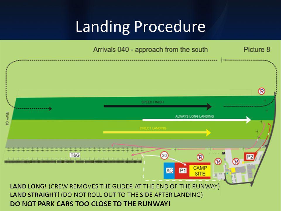 Landing Procedure 21 pilots did not follow the local procedure for landing.