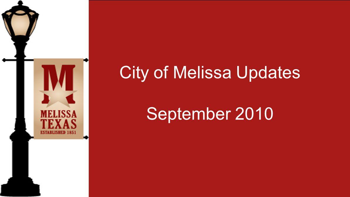 City of Melissa Updates September 2010
