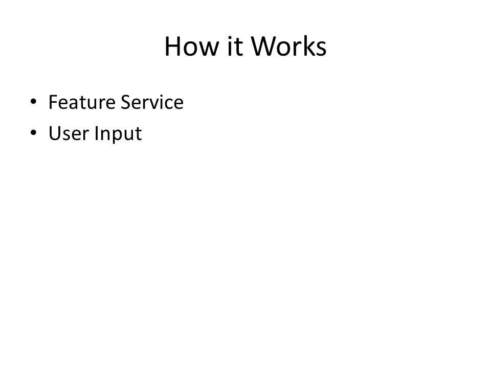 How it Works Feature Service User Input
