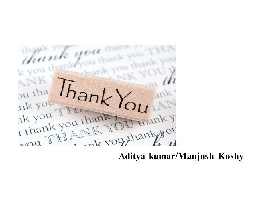 Aditya kumar/Manjush Koshy