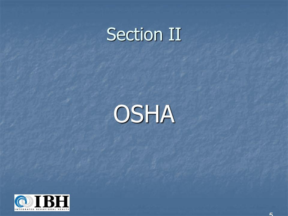 Section II OSHA 5