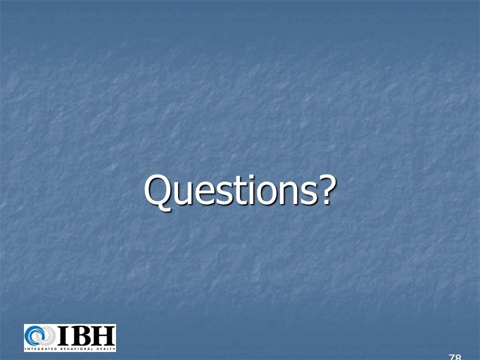 Questions? 78