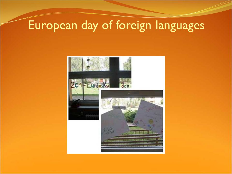 European day of foreign languages