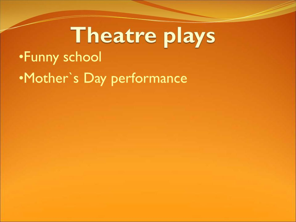 Funny school Mother`s Day performance