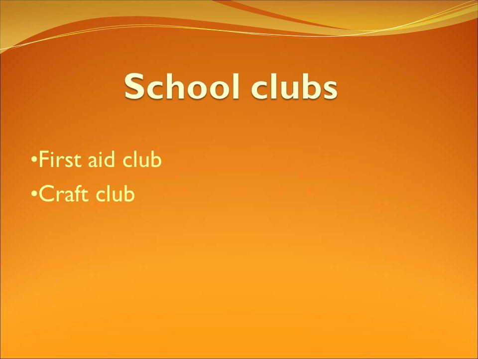 First aid club Craft club