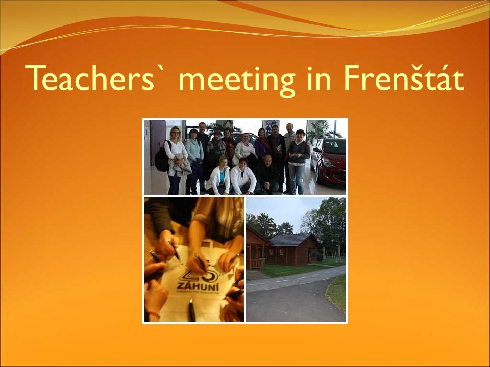 Teachers` meeting in Frenštát