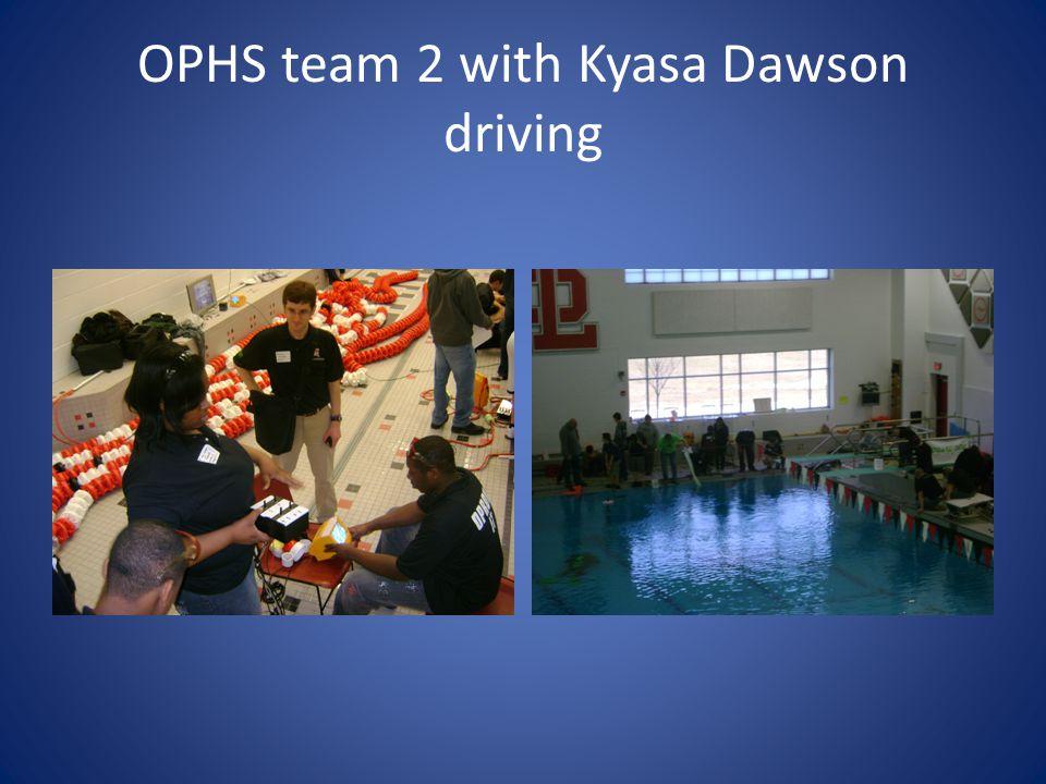 OPHS team 2 with Kyasa Dawson driving