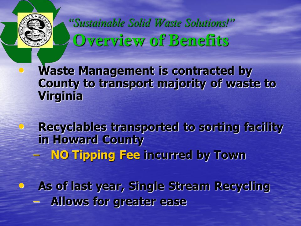 Sustainable Solid Waste Solutions.