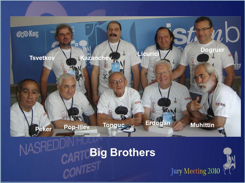 Big Brothers Peker Tsvetkov Pop-Iliev Kazanchev Tonguc Licurici Erdogan Dogruer Muhittin