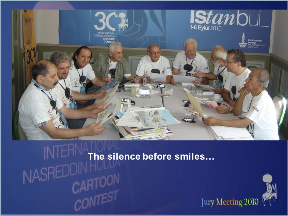 The silence before smiles…