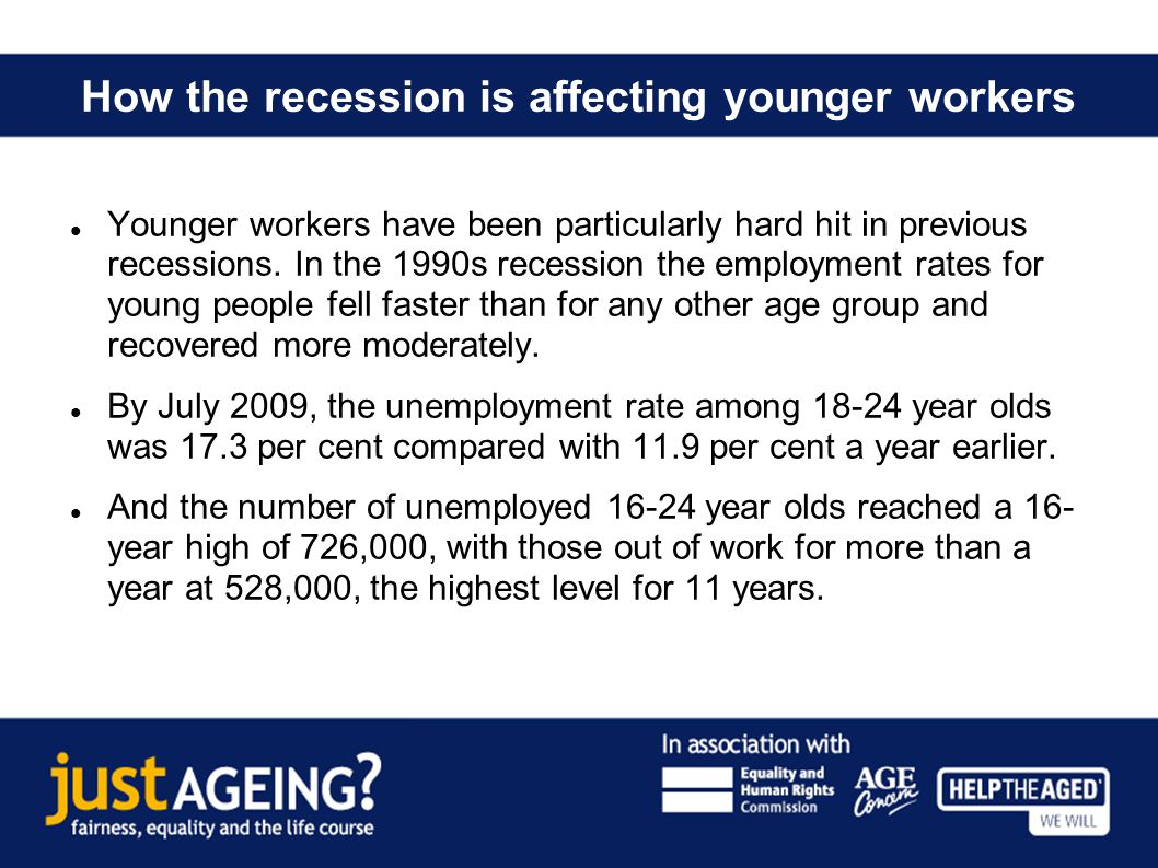 The threat of scarring In the early 1980s recession, the unemployment of those under 18 years was at 30.8 per cent in July 1981.