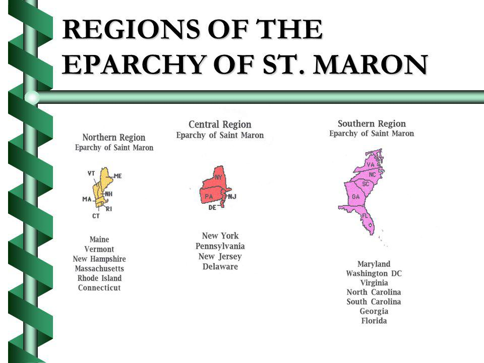 REGIONS OF THE EPARCHY OF ST. MARON
