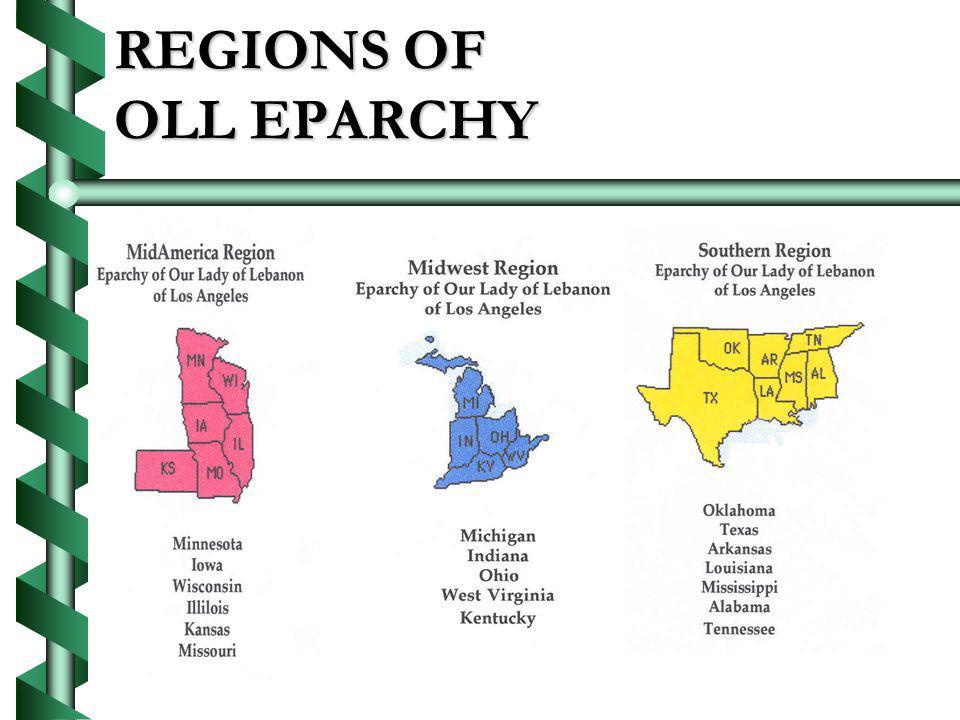 REGIONS OF OLL EPARCHY