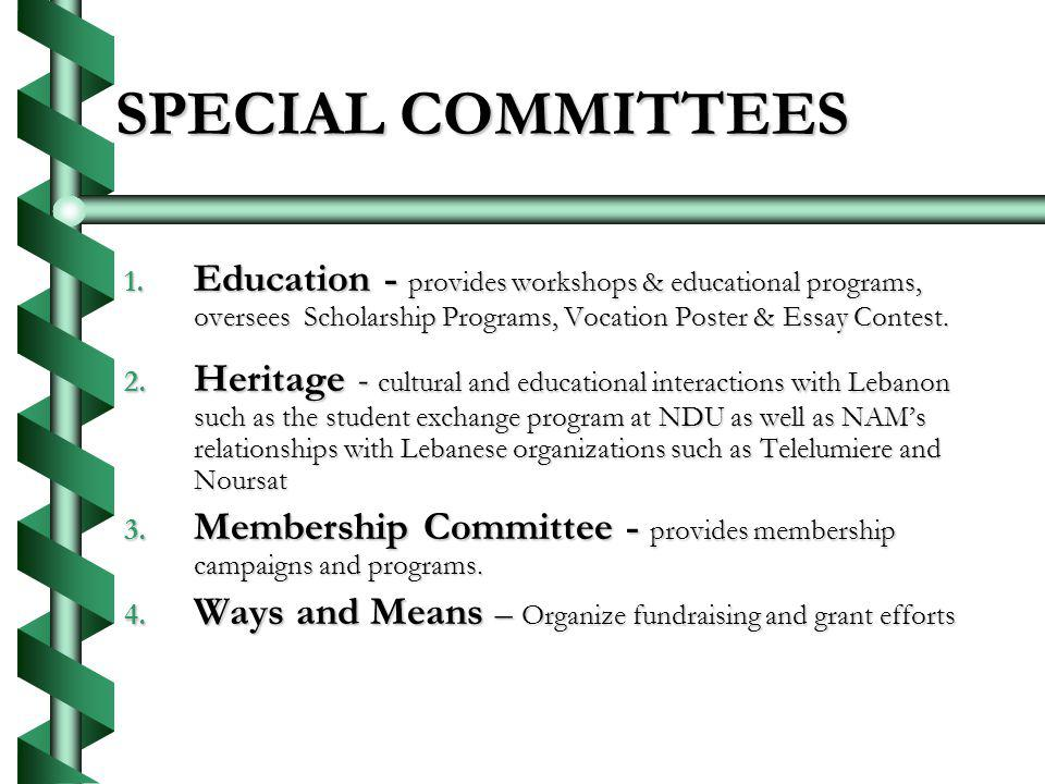 SPECIAL COMMITTEES 1.