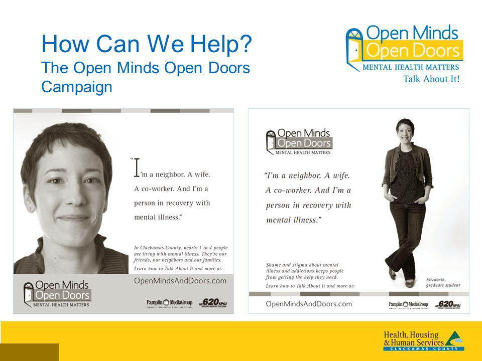 How Can We Help? The Open Minds Open Doors Campaign
