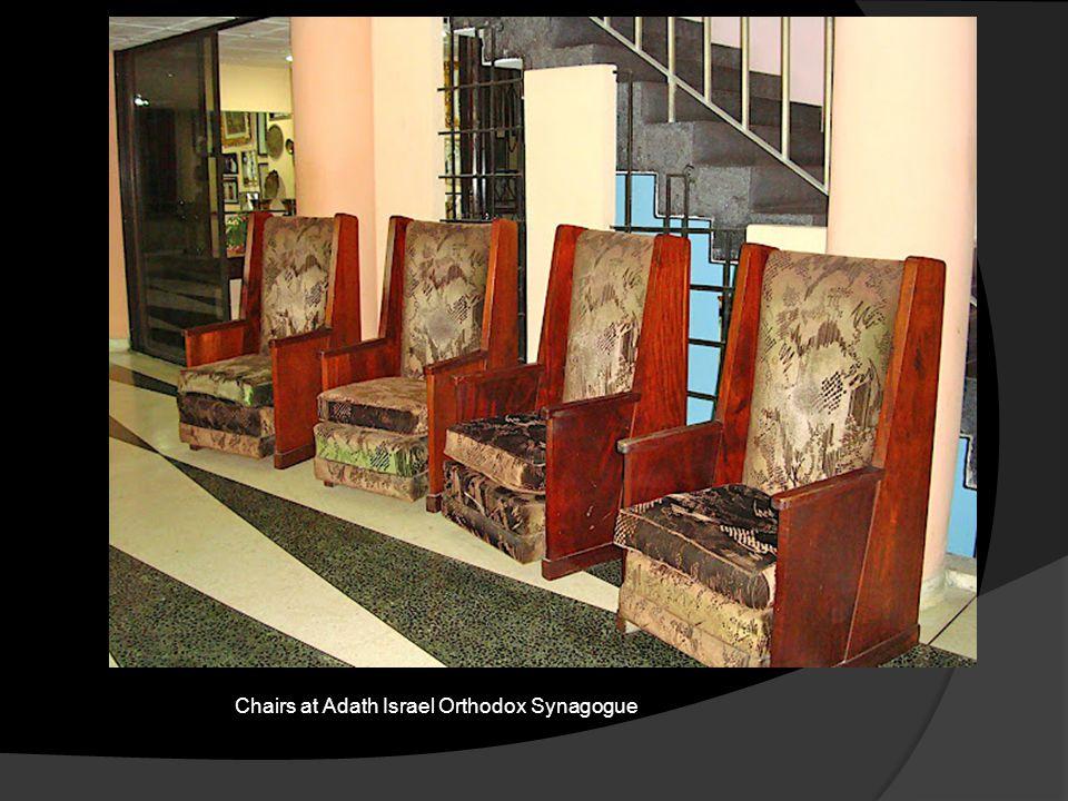 Chairs at Adath Israel Orthodox Synagogue