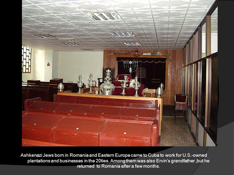 The bimah and the ark at Hatikva in Santiago de Cuba