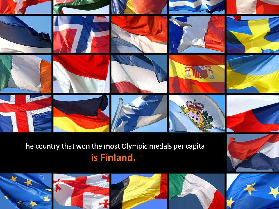 The country that won the most Olympic medals per capita is Finland.