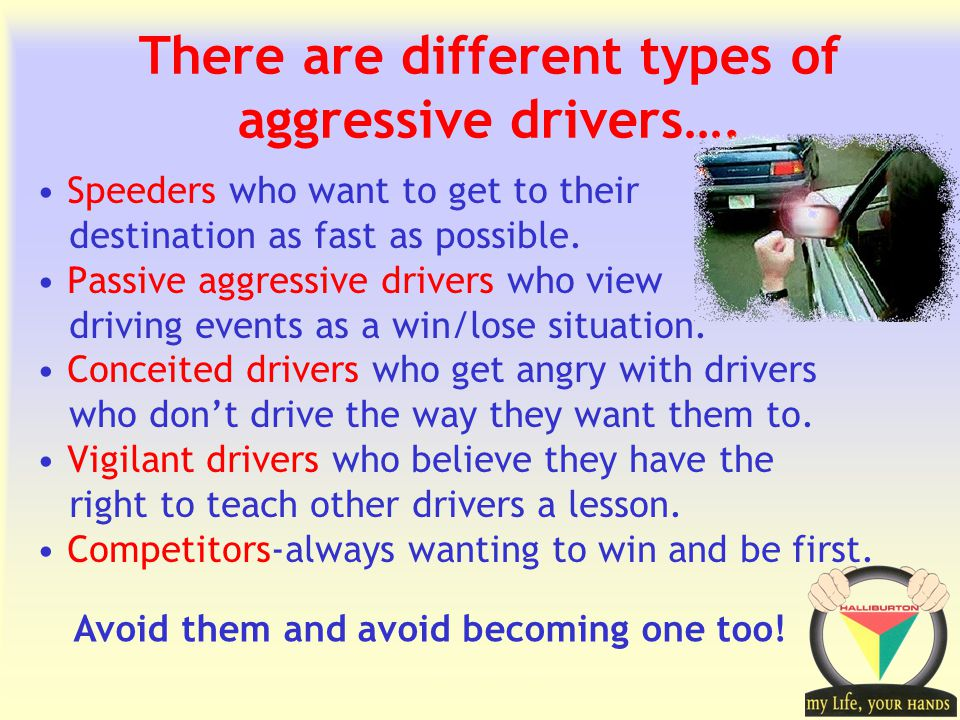 Transportation Tuesday There are different types of aggressive drivers….
