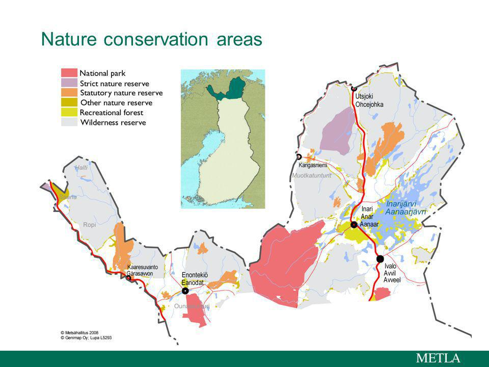 Nature conservation areas