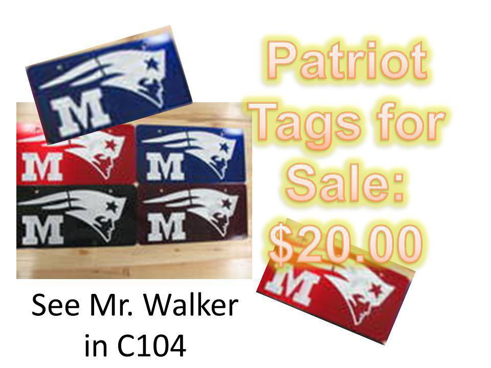 See Mr. Walker in C104