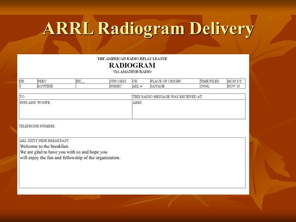 ARRL Radiogram Calculate Check Today Pick ARRL Message