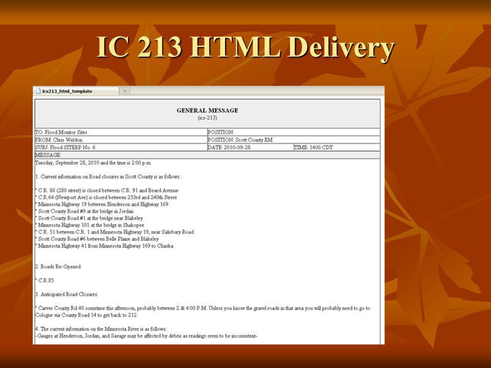 ICS 213 Form