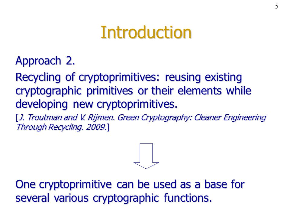 Introduction Approach 2.