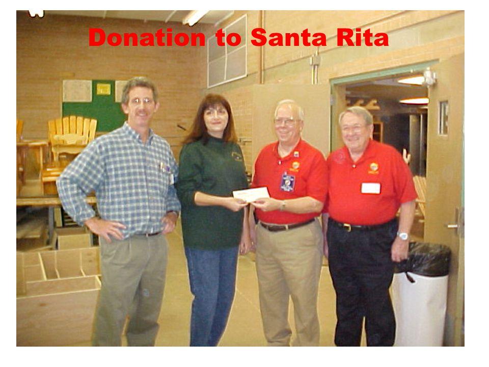 Donation to Santa Rita
