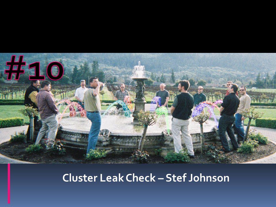 Cluster Leak Check – Stef Johnson