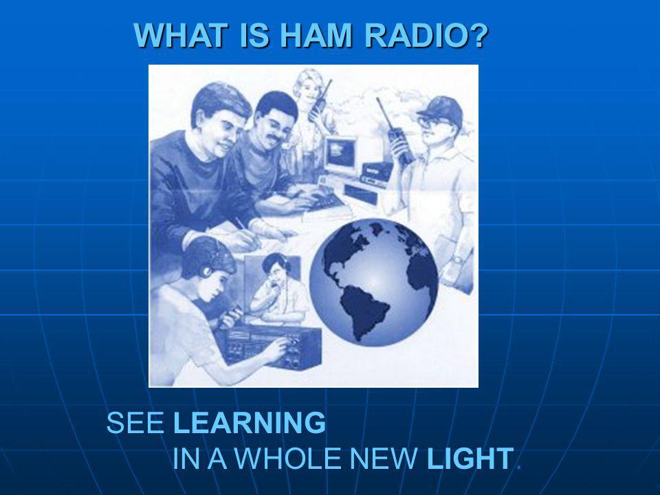 Welcome to the World of Ham Radio.
