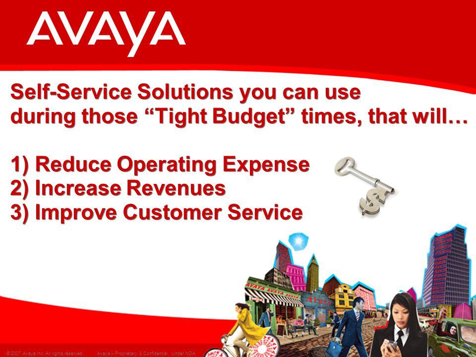 8 © 2007 Avaya Inc.All rights reserved. Avaya – Proprietary & Confidential.