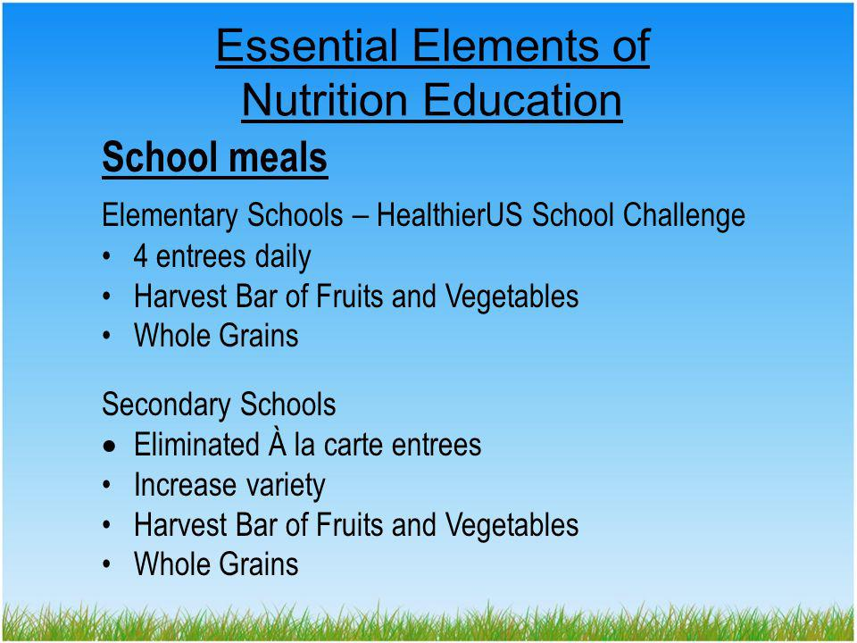 NUTRITION BY DESIGN Elk Grove Unified School District Anne Gaffney, R.D., SNS agaffney@egusd.net www.egusd.net/nutrition